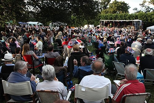 Crowds enjoying Bretforton Silver Band's last night of the proms