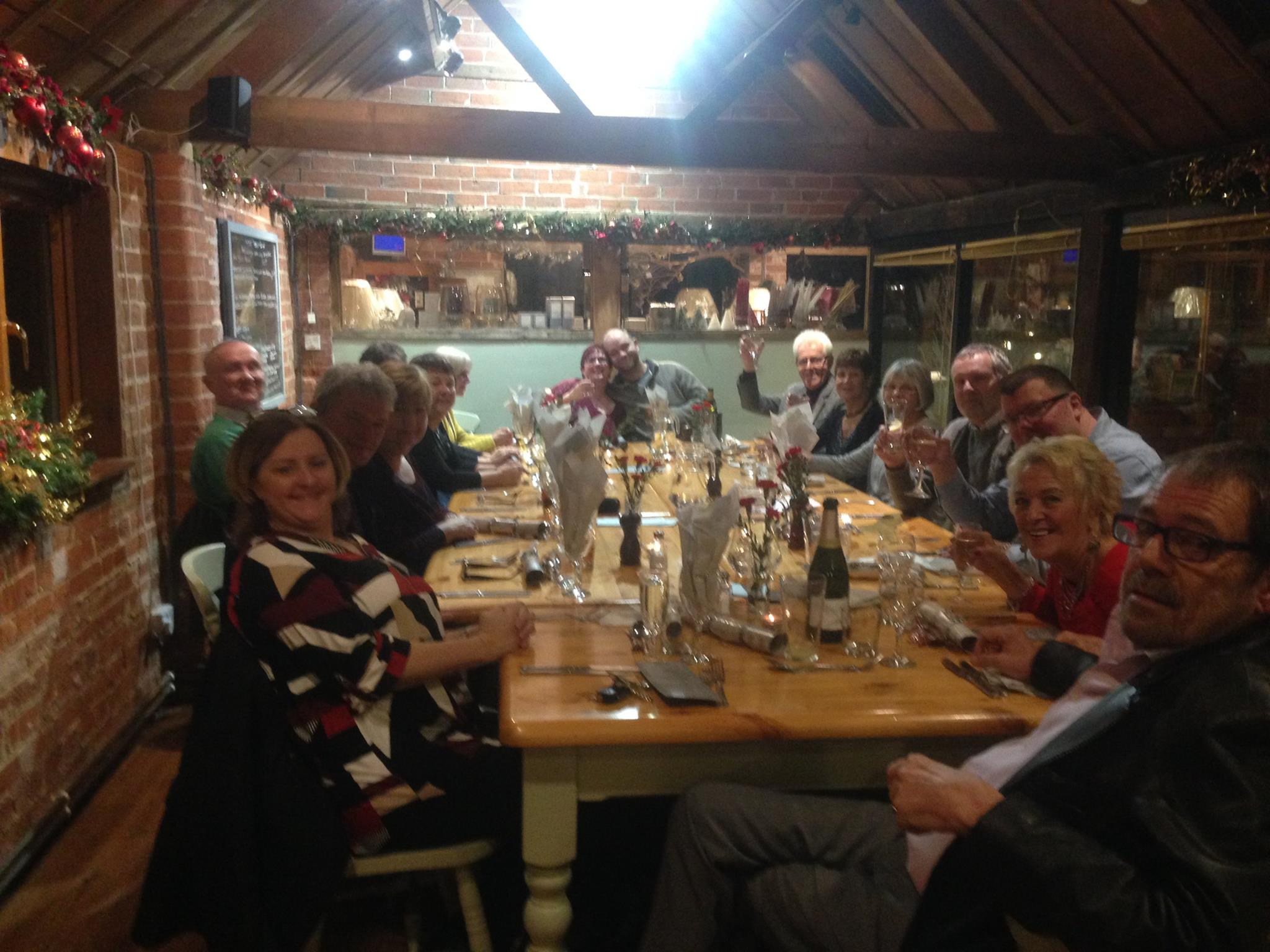 Bretforton Community Shop volunteers enjoying themselves on a night out