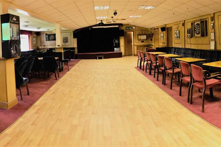 The dance floor at Bretforton Community Social Club